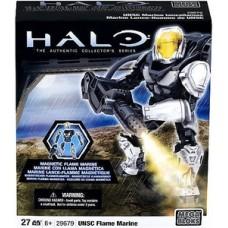 Halo Wars Mega Bloks Metalons Set #29679 UNSC Flame Marine [Silver]